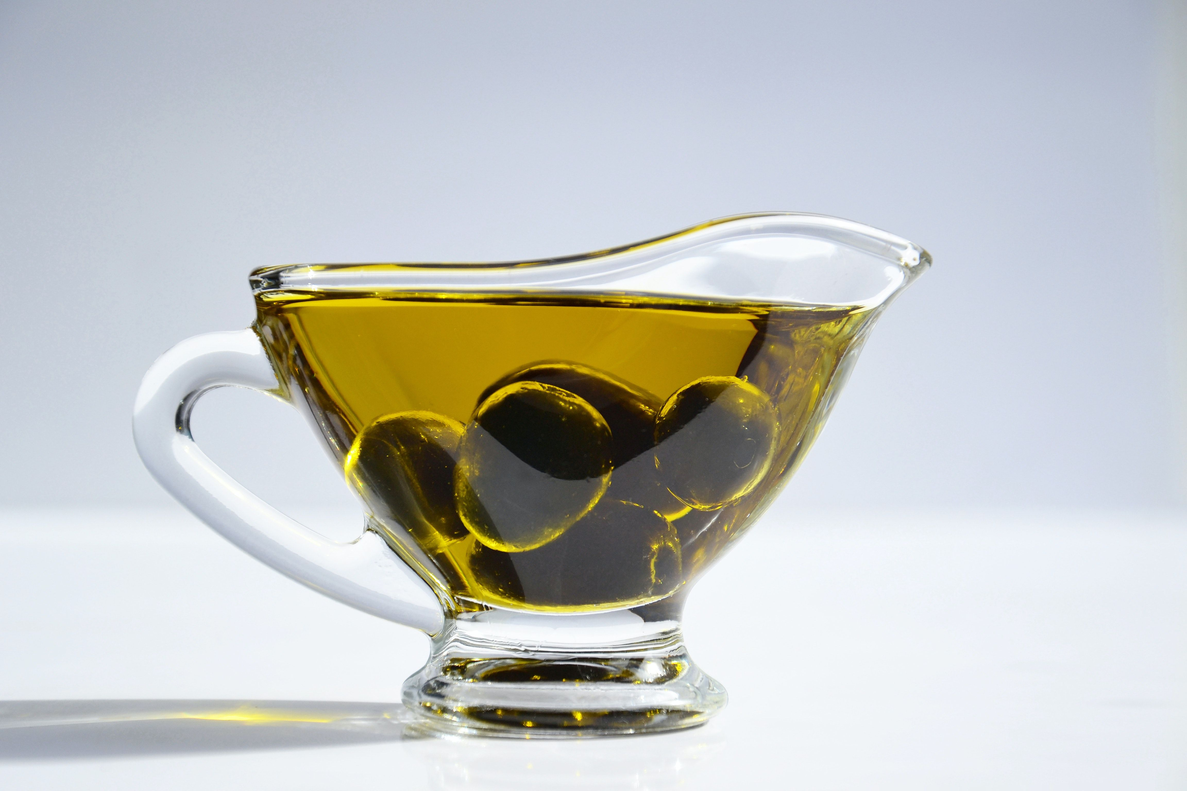 Cup of gut-healing olive oil
